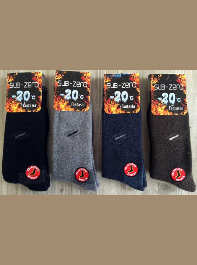 Şirin Erkek 12 li Paket Yün - Termal Çorap 0679